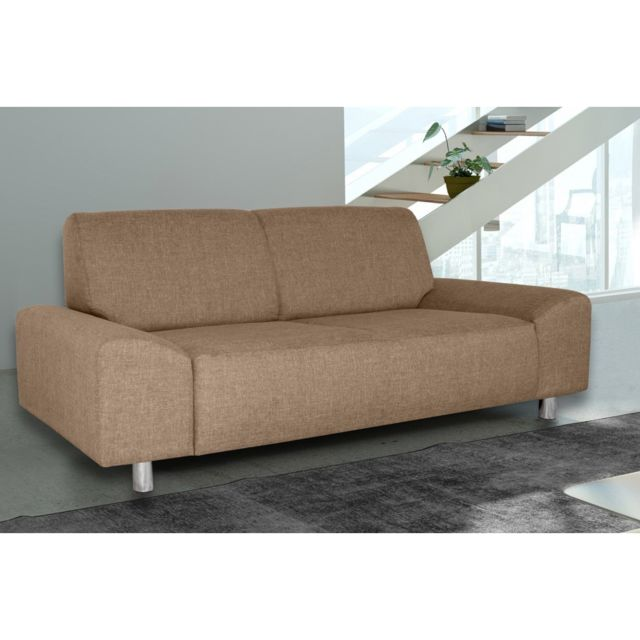 Rocambolesk Canapé Quick 3 savana 25 brun+pieds chrom sofa divan