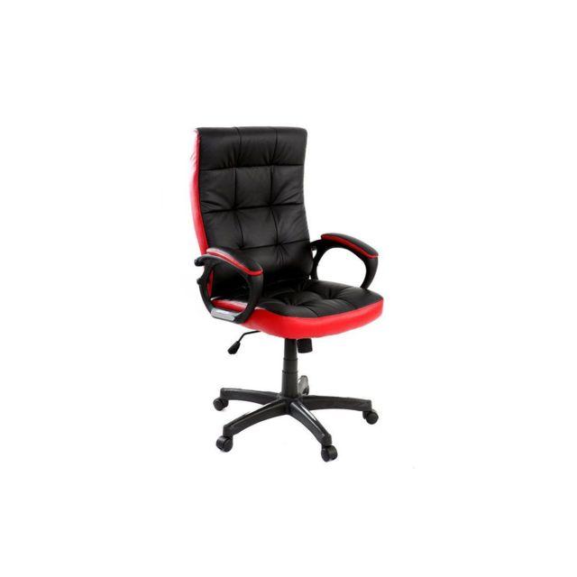 soldes miliboo fauteuil de bureau design rouge et noir lorenzo pas cher achat vente. Black Bedroom Furniture Sets. Home Design Ideas