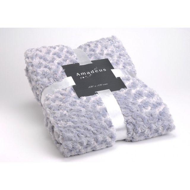amadeus plaid 130x170 gris pas cher achat vente couvertures et plaids rueducommerce. Black Bedroom Furniture Sets. Home Design Ideas