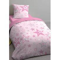 Comptoir Des Tisseurs - Parure de lit enfant étoile 100% coton 57 fils/cm²