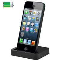 Yonis - Station d'accueil dock de synchronisation chargeur iPhone 5 Noir