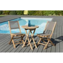 Chaise jardin pliante taupe - catalogue 2019 - [RueDuCommerce ...