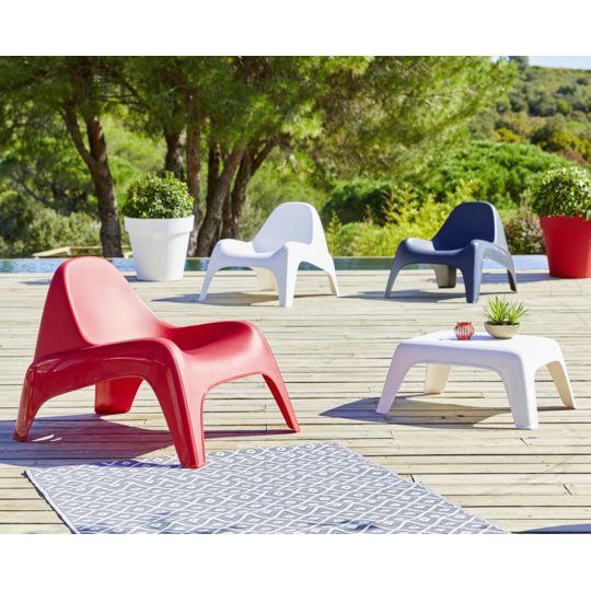 Table basse de jardin - Blanc à Prix Carrefour