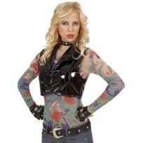 cb9dbc088042b Sans - Haut à manches longues effet tatouages femme - taille - Taille  Unique - 217252
