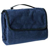 James & Nicholson - Plaid couverture polaire pique-nique 130 x 150 - Jn953 - bleu marine