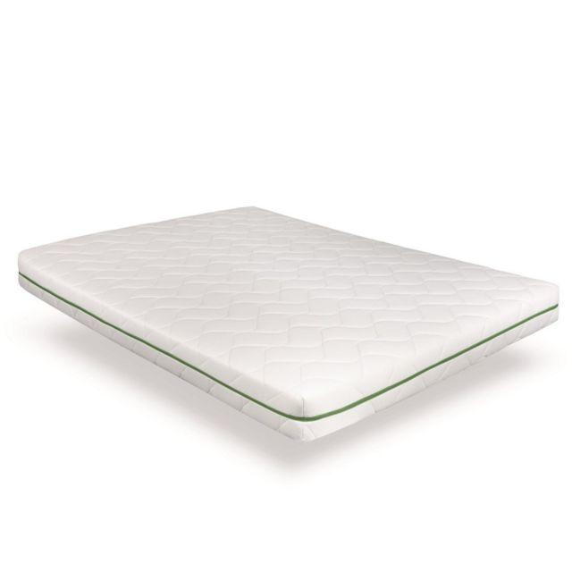 Incroyable Literie Matelas Chêne 90x200 | Mousse H.R 35kg/3 supérieure | Fabriqué en France | hauteur 15cm | Confort progressif | Thermorég