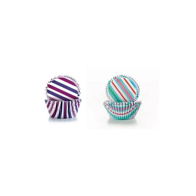 Ibili Capsule Cupcake Rayures 50+50 pcs