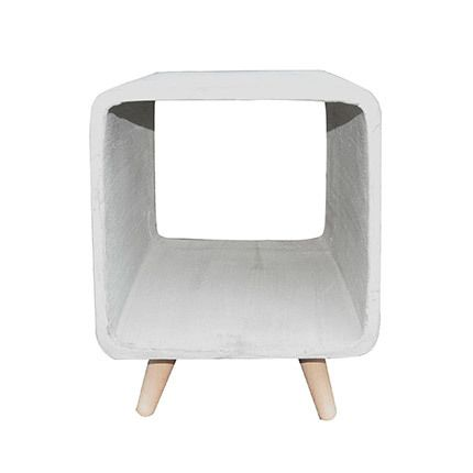 Table d'appoint cube 35cm béton
