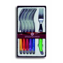 Laguiole Production - Coffret 6 Fourchettes Laguiole de Table Abs Multicolors Inox