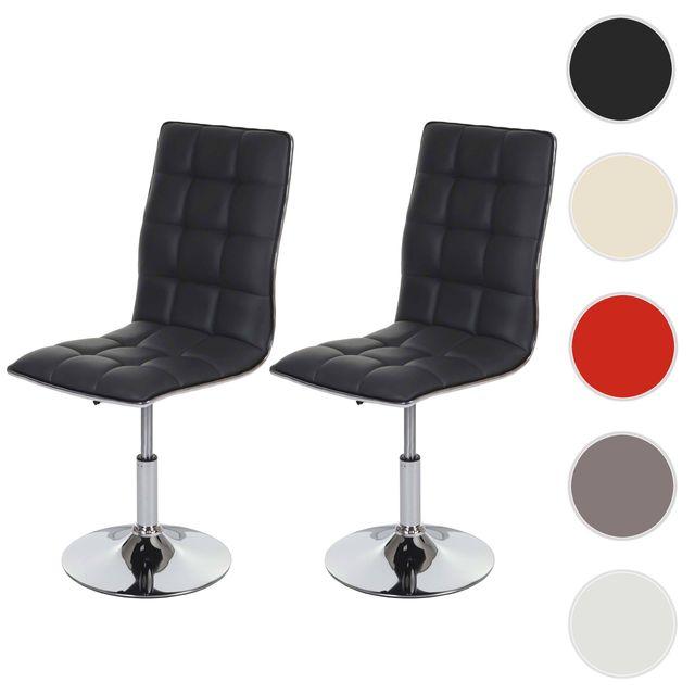 2x chaise de salle à manger Hwc c41, fauteuil, similicuir ~ gris
