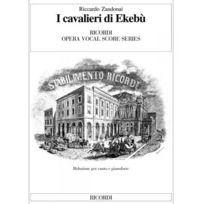 Ricordi - Zandonai - Cavalieri Di Ekebu - Chant, Piano