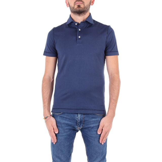 Della Ciana Homme 0047671L0592 Bleu Coton Polo