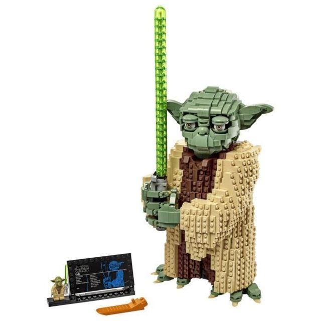 Icaverne JEU D'ASSEMBLAGE - JEU DE CONSTRUCTION - JEU DE MANIPULATION Star Wars™ 75255 Yoda