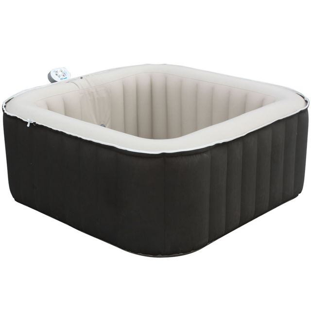 waterclip spa gonflable carr 3 4 places claidy 158x158x65 pas cher achat vente spa. Black Bedroom Furniture Sets. Home Design Ideas