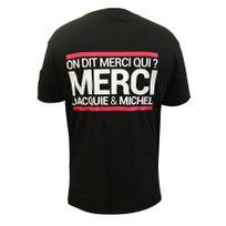 Jacquie Et Michel - T-shirt Jacquie & Michel Noir Blanc et Rose