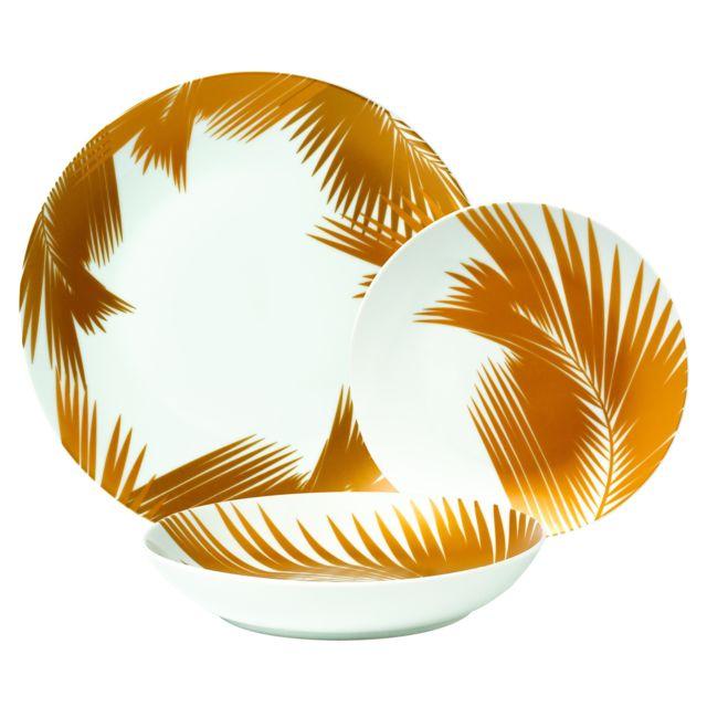 CARREFOUR - Service à vaisselle - 18 pièces - Havane Gold - pas cher ... d21e3095a447