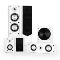 AUNA - Linie-300-WH 5.1 Système son enceintes passives Home Cinema 515W RMS -blanc