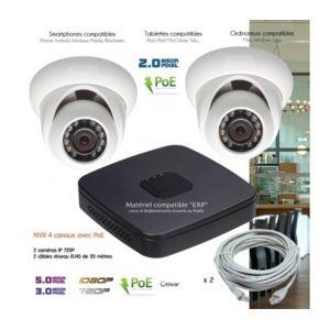 dahua syst me video surveillance ip avec 2 cam ras d mes. Black Bedroom Furniture Sets. Home Design Ideas