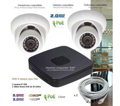 dahua syst me video surveillance ip avec 2 cam ras d mes capacit du disque dur aucun disque. Black Bedroom Furniture Sets. Home Design Ideas