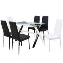 Vidaxl - Ensemble table et chaises de salle à manger 7 pcs Simili cuir