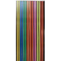 MOREL - Rideau à lanière de 24 mm noir et multicolore