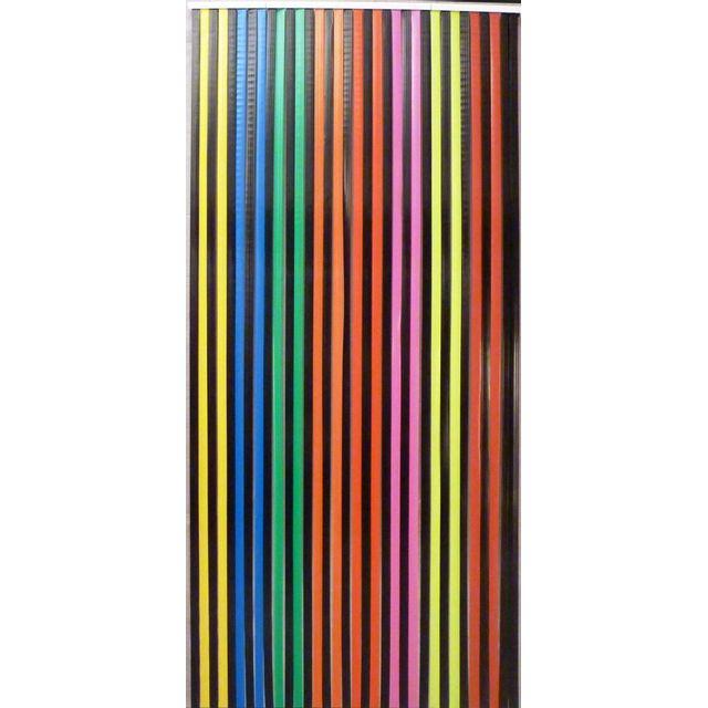 morel rideau lani re de 24 mm noir et multicolore pas cher achat vente rideaux. Black Bedroom Furniture Sets. Home Design Ideas