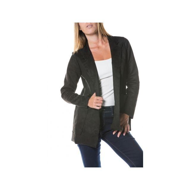 0bf1fae4a2079 Princesse Boutique - Veste blazer Noir en suédine - pas cher Achat ...