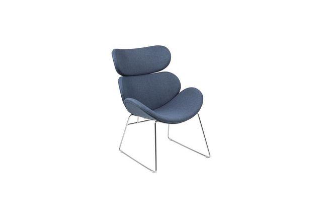 Miliboo Fauteuil design contemporain bleu foncé Gabriel