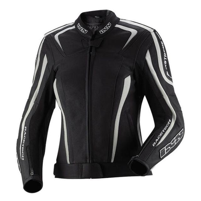 Cuir Saisons Chara Lady Moto Femme Noir Toutes Sport Blouson Ixs B5xaFqPa
