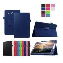 Xeptio - Samsung Galaxy Tab E 9.6 pouces Cuir Style bleu avec Stand - Etui coque de protection tablette