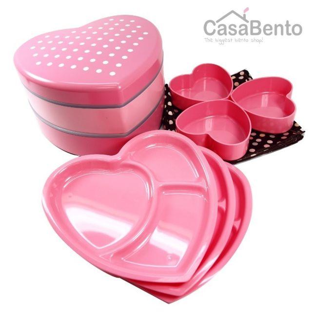casabento jyubako coeur ch ri rose furoshiki multicolore pas cher achat vente bento box. Black Bedroom Furniture Sets. Home Design Ideas