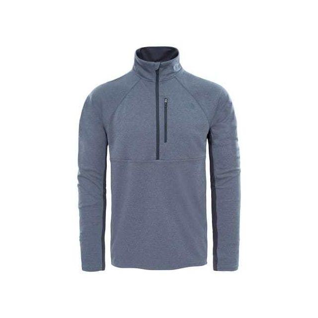 c2180e4a9aff7 The north face - Sweat-shirt Ambition 1 4 Zip gris Multicolour - pas cher  Achat   Vente Gilets, polaires - RueDuCommerce