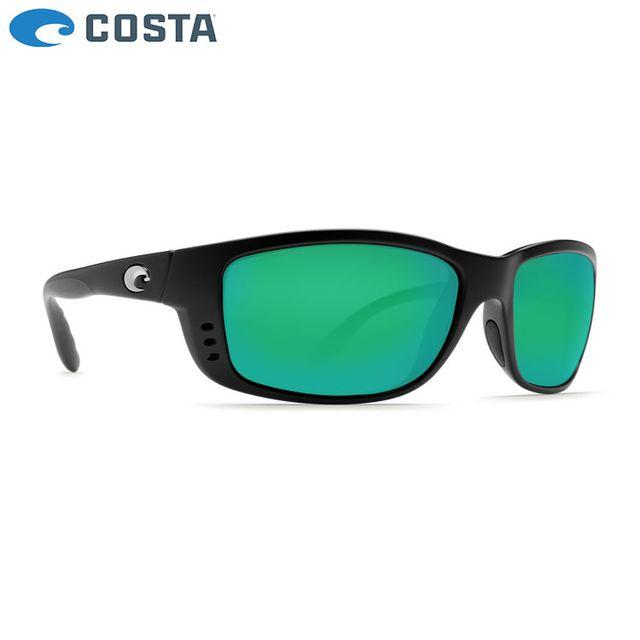 Costa - Lunettes Polarisantes Costa Zane 580G Matte Black Green Mirror d8238b2edf70