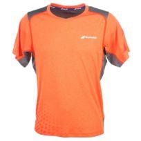 Babolat - Tee shirt respirant Tshirt v nec k orange Orange 27694