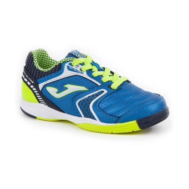 Joma Chaussures de Futsal bleue pour enfant Dribling Ic