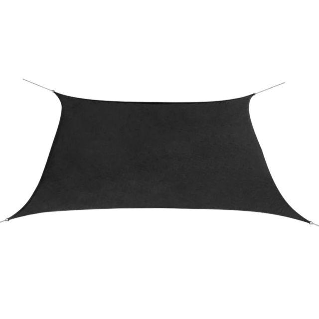 Admirable Vie en extérieur famille Stockholm Voile de parasol Tissu Oxford Carré 2 x 2 m Anthracite