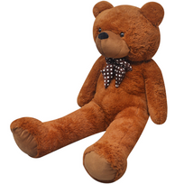 Rocambolesk - Superbe Ours en peluche doux Xxl 150 cm marron neuf