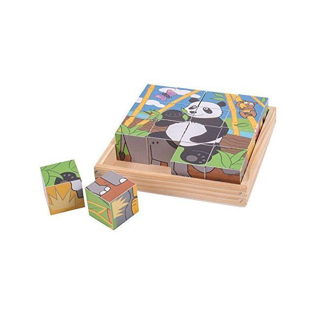 Bigjigs Toys Wild Animal Cube Puzzle Multicolored