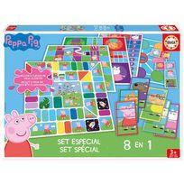 Educa - Peppa Pig - Coffret 8 jeux en 1 Peppa Pig