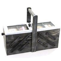 Touslescadeaux - Boite à Couture en bois Repliable à compartiments