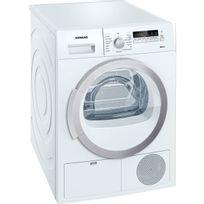 Siemens - sèche linge à condenseur 60cm 9kg b blanc - wt46b290ff