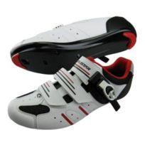 Exustar - Chaussures Esr4037 route blanc rouge