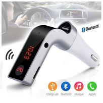 Karylax - Kit Bluetooth Mains Libres Voiture Sans Fil couleur Gris pour tous les Smartphones