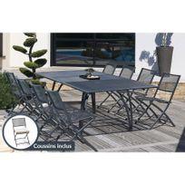 Dcb Garden - Ensemble table aluminium avec 8 chaises