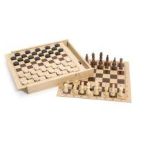 Jeujura - Jeux de dames et d'échecs : Coffret en bois