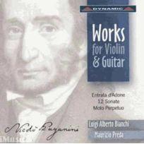 - Nicolo Paganini - Oeuvres pour violon et guitare : Six sonates opus 2 Ms 26, Six sonates opus 3 Ms 27, Entrata d'Adone sella Regia di venere, Allegro vivace a movimento perpetuo Ms 72