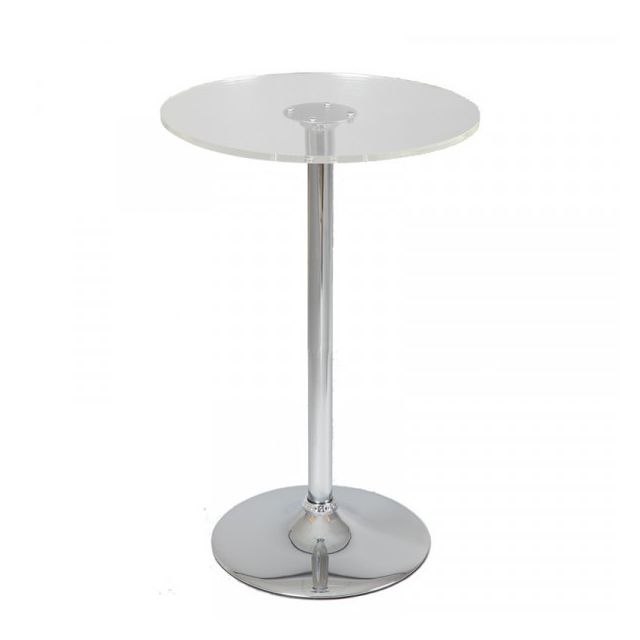 Dansmamaison Table de bistrot mange debout en verre - Seta - L 60 x l 60 x H 110 cm