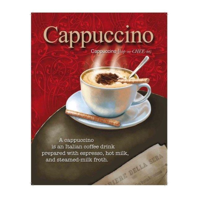 Universel Plaque café cappuccino deco original bar tabac diner cuisine