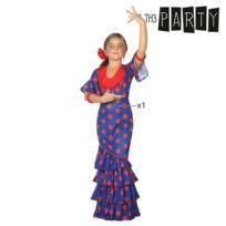 La Se/ñorita Flamenco body de danse fille noir /à pois rouges manches aux coudes
