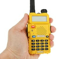 Yonis - Baofeng Uv-5R Talkie-walkie récepteur radio fréquence modulable Jaune